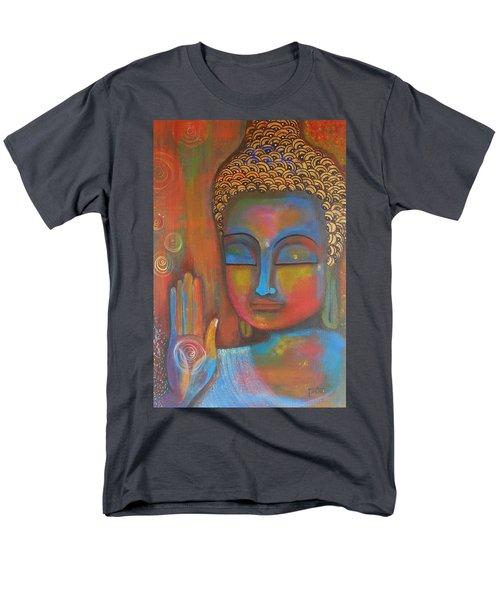 Buddha Blessings Men's T-Shirt  (Regular Fit) by Prerna Poojara