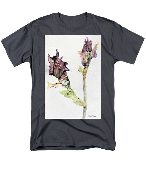 Budding Irises Men's T-Shirt  (Regular Fit) by Mindy Newman