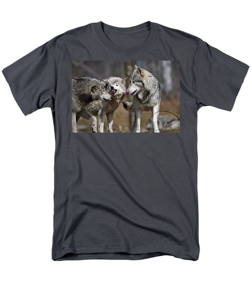 Men's T-Shirt  (Regular Fit) featuring the photograph Buddy You Are Just Not Listening by Michael Cummings