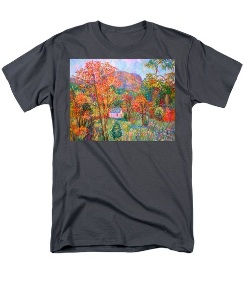 Men's T-Shirt  (Regular Fit) featuring the painting Buffalo Mountain In Fall by Kendall Kessler