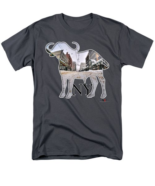 Buffalo Ny Snowy Main St Men's T-Shirt  (Regular Fit) by Michael Frank Jr