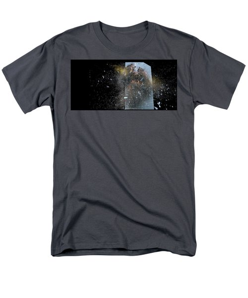 Building_explosion Men's T-Shirt  (Regular Fit) by Marcia Kelly