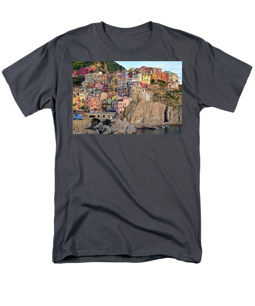 Men's T-Shirt  (Regular Fit) featuring the photograph Built On The Slope by Frozen in Time Fine Art Photography