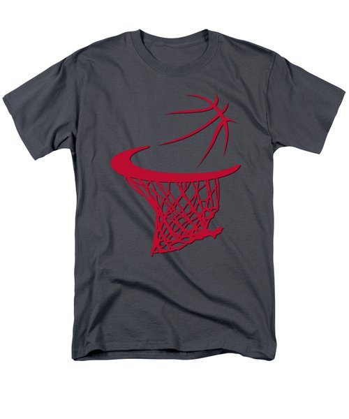 Bulls Basketball Hoop Men's T-Shirt  (Regular Fit)