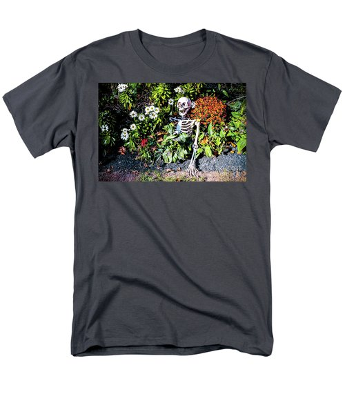 Men's T-Shirt  (Regular Fit) featuring the photograph Buried Alive - Skeleton Garden by Colleen Kammerer