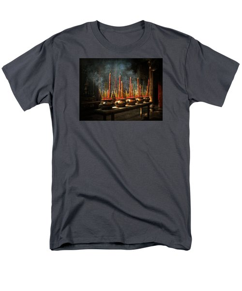 Men's T-Shirt  (Regular Fit) featuring the photograph Burning Incense by Lucinda Walter