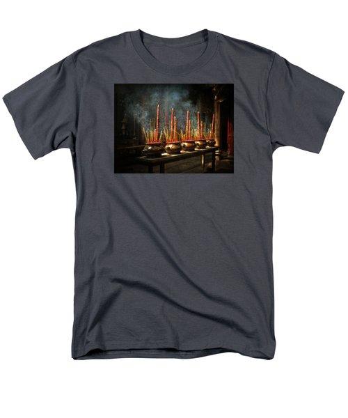 Burning Incense Men's T-Shirt  (Regular Fit) by Lucinda Walter
