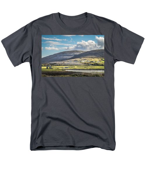 Men's T-Shirt  (Regular Fit) featuring the photograph Burren Landscape by Juergen Klust