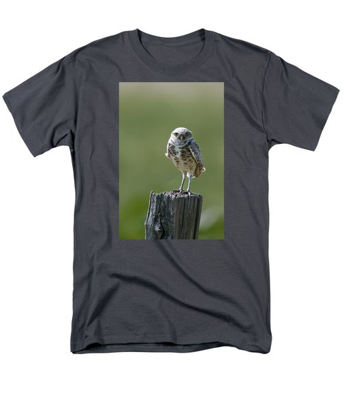 Men's T-Shirt  (Regular Fit) featuring the photograph Burrowing Owl by Gary Lengyel