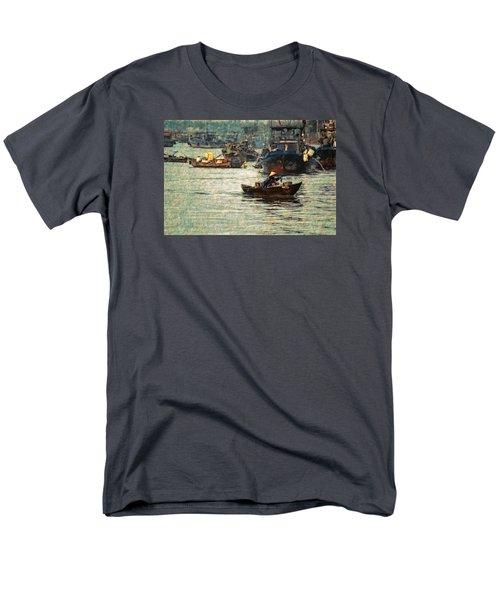 Men's T-Shirt  (Regular Fit) featuring the digital art Busy Hoi Ahn Dawn by Cameron Wood