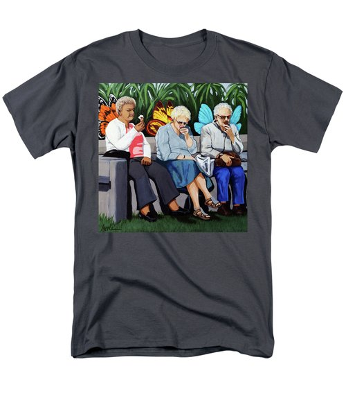 Men's T-Shirt  (Regular Fit) featuring the painting Butterflies Like Ice Cream Too by Linda Apple