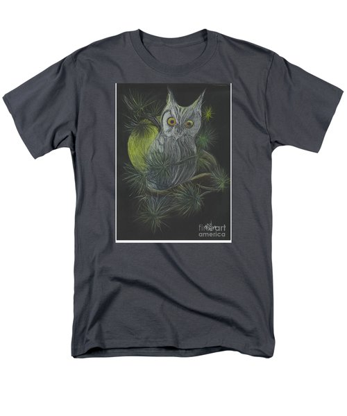 Men's T-Shirt  (Regular Fit) featuring the drawing By The Light Of The Moon by Carol Wisniewski