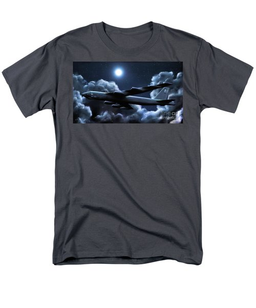 Men's T-Shirt  (Regular Fit) featuring the painting By The Light Of The Silvery Moon by Dave Luebbert