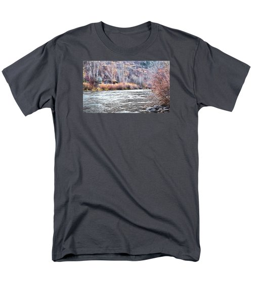Cabin By The River In Steamboat,co Men's T-Shirt  (Regular Fit) by James Steele