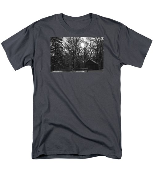 Cabin By The Woods Men's T-Shirt  (Regular Fit) by Dacia Doroff