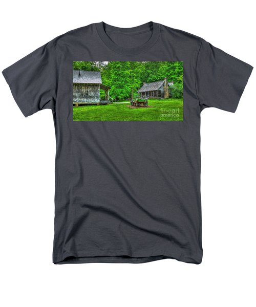 Men's T-Shirt  (Regular Fit) featuring the photograph Cabin Fever Great Smoky Mountains Art by Reid Callaway