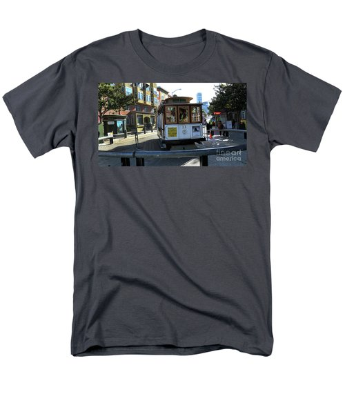 Men's T-Shirt  (Regular Fit) featuring the photograph Cable Car Turnaround by Steven Spak