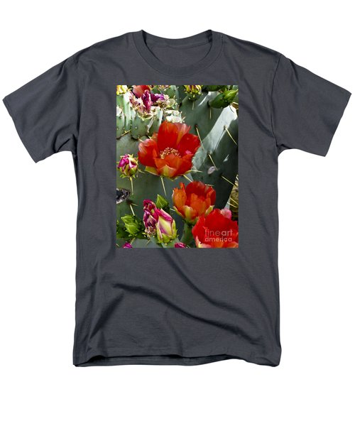 Cactus Blossom Men's T-Shirt  (Regular Fit) by Kathy McClure