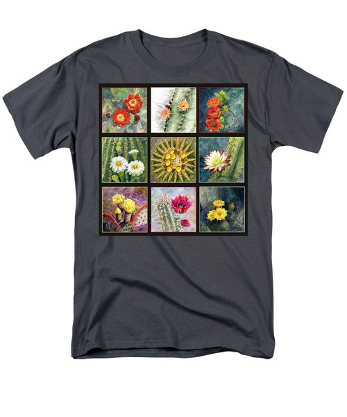 Men's T-Shirt  (Regular Fit) featuring the painting Cactus Series by Marilyn Smith