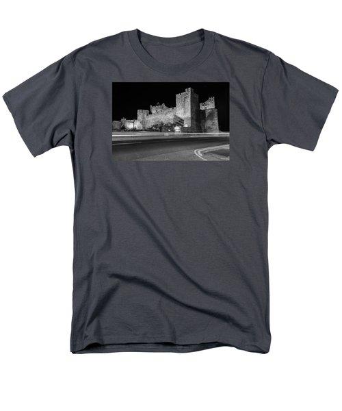 Cahir Castle At Night Men's T-Shirt  (Regular Fit) by Martina Fagan