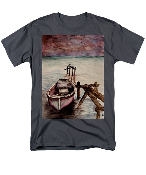 Men's T-Shirt  (Regular Fit) featuring the painting Calm Waters by Lil Taylor