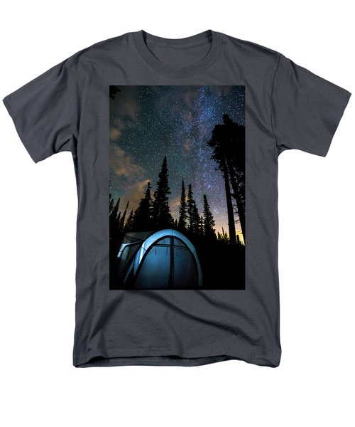 Men's T-Shirt  (Regular Fit) featuring the photograph Camping Star Light Star Bright by James BO Insogna