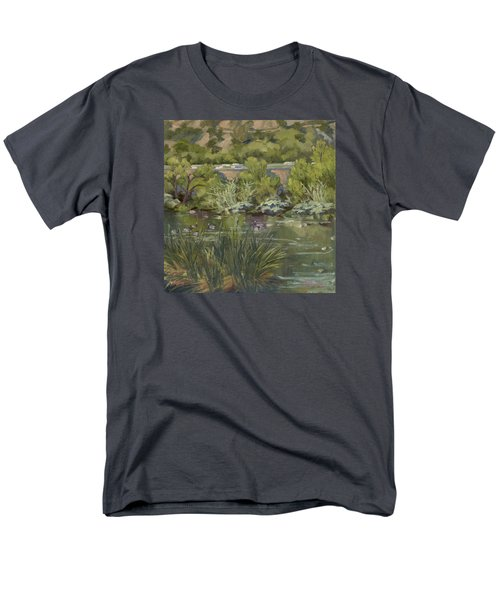 Canadian Geese La River Men's T-Shirt  (Regular Fit) by Jane Thorpe