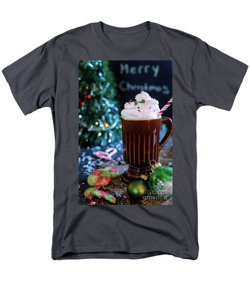 Men's T-Shirt  (Regular Fit) featuring the photograph Candy Cane Twist by Deborah Klubertanz