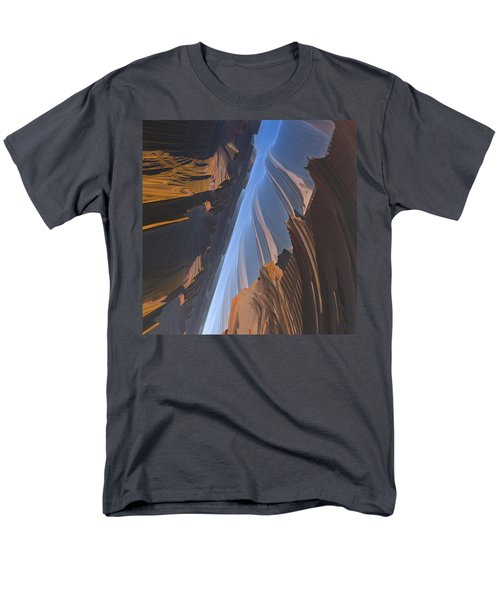 Men's T-Shirt  (Regular Fit) featuring the digital art Canyon by Lyle Hatch
