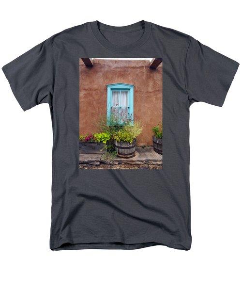Men's T-Shirt  (Regular Fit) featuring the photograph Canyon Road Blue Santa Fe by Kurt Van Wagner