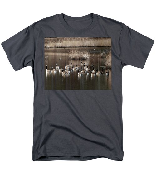 Cape Cod Americana Canada Geese Men's T-Shirt  (Regular Fit) by Constantine Gregory