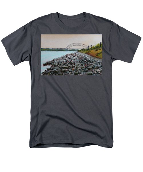 Cape Cod Canal To The Bourne Bridge Men's T-Shirt  (Regular Fit) by Rita Brown