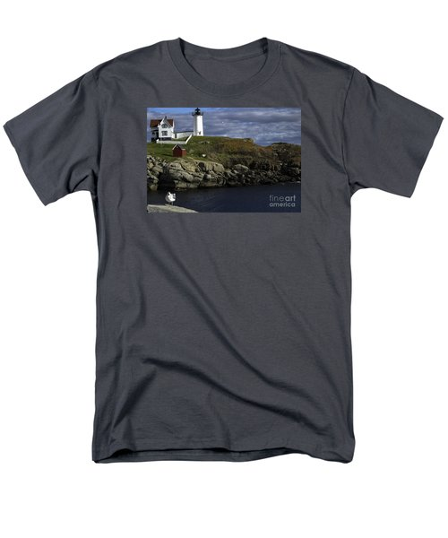 Men's T-Shirt  (Regular Fit) featuring the photograph Cape Neddick Lighthouse by Mim White