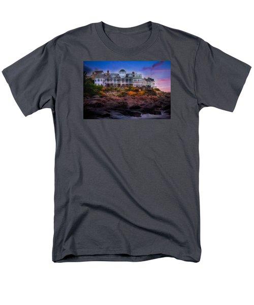 Men's T-Shirt  (Regular Fit) featuring the photograph Cape Neddick Maine Scenic Vista by Shelley Neff