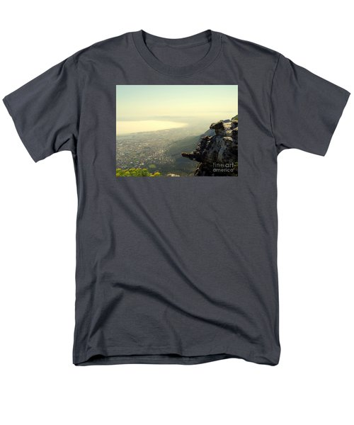 Cape Town View From Table Rock Men's T-Shirt  (Regular Fit) by John Potts