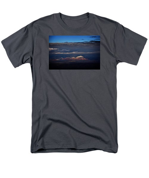 Capitol Butte In Sedona With Snow Men's T-Shirt  (Regular Fit) by Ron Chilston