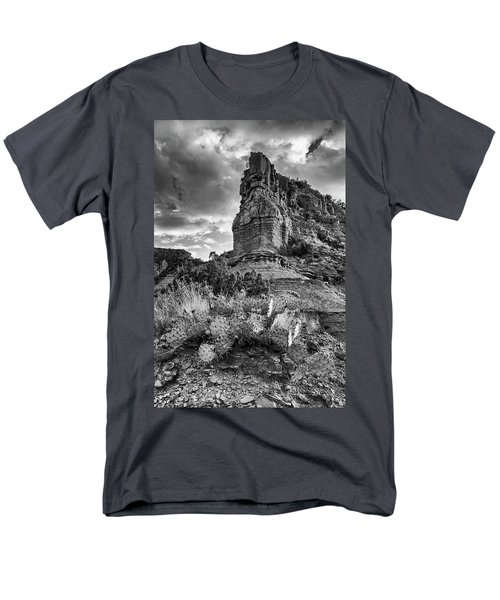 Men's T-Shirt  (Regular Fit) featuring the photograph Caprock And Cactus by Stephen Stookey