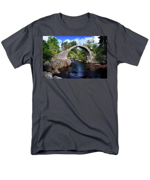 Carr Bridge Scotland Men's T-Shirt  (Regular Fit) by Don and Bonnie Fink