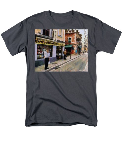 Men's T-Shirt  (Regular Fit) featuring the painting Carrer Dosrius by Kai Saarto