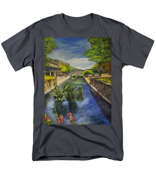Carroll Creek Men's T-Shirt  (Regular Fit) by Ron Richard Baviello