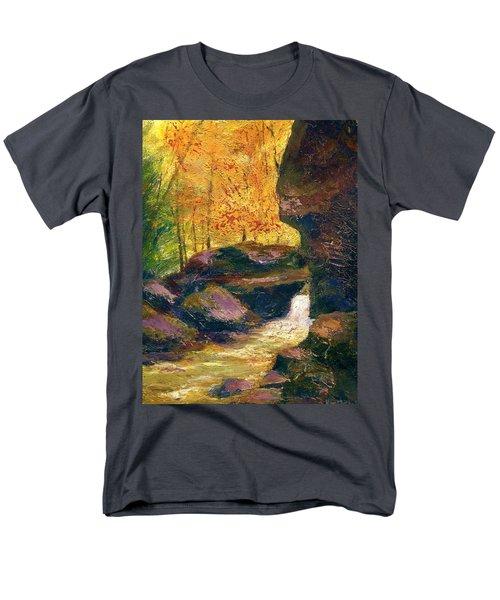 Men's T-Shirt  (Regular Fit) featuring the painting Carter Caves Kentucky by Gail Kirtz
