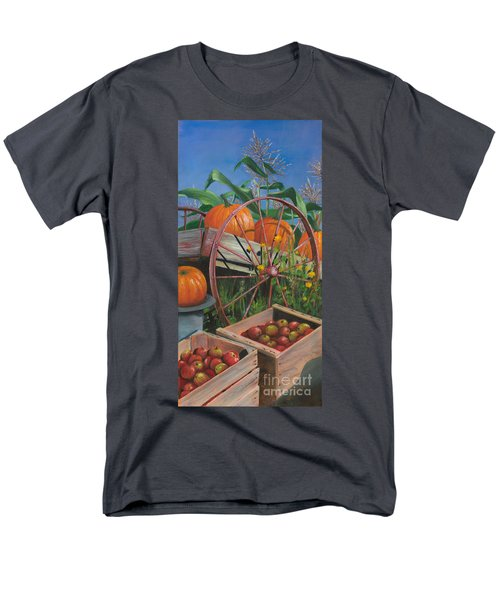 Men's T-Shirt  (Regular Fit) featuring the painting Cartloads Of Pumpkins by Jeanette French