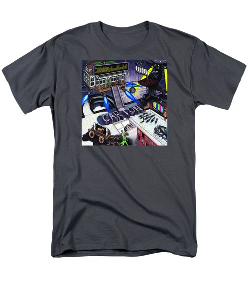 Men's T-Shirt  (Regular Fit) featuring the drawing Carton Album Cover Artwork Front by Richie Montgomery