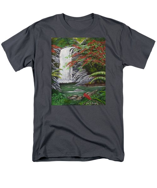 Cascada Tropical Men's T-Shirt  (Regular Fit) by Luis F Rodriguez