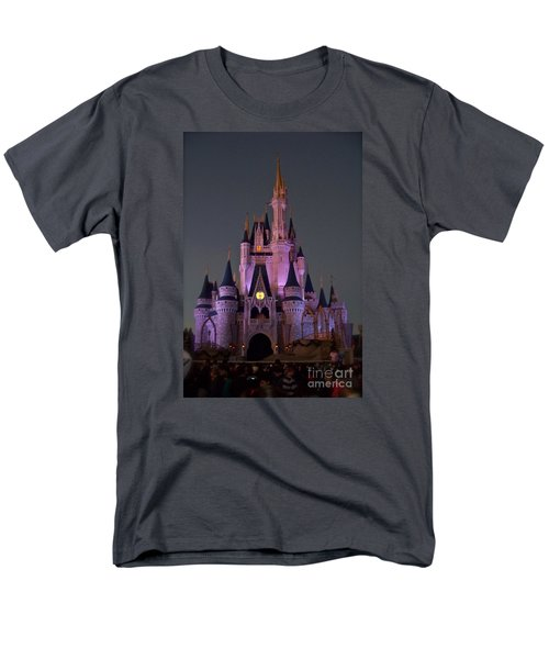 Men's T-Shirt  (Regular Fit) featuring the photograph Castle At Twilight by Carol  Bradley