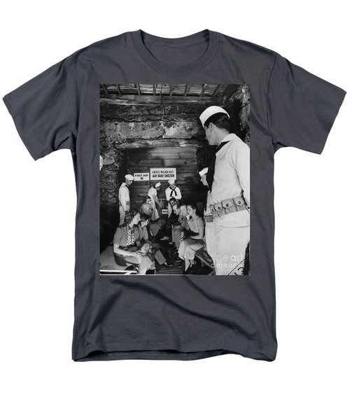 Men's T-Shirt  (Regular Fit) featuring the photograph Castle Village Air Raid Shelter by Cole Thompson