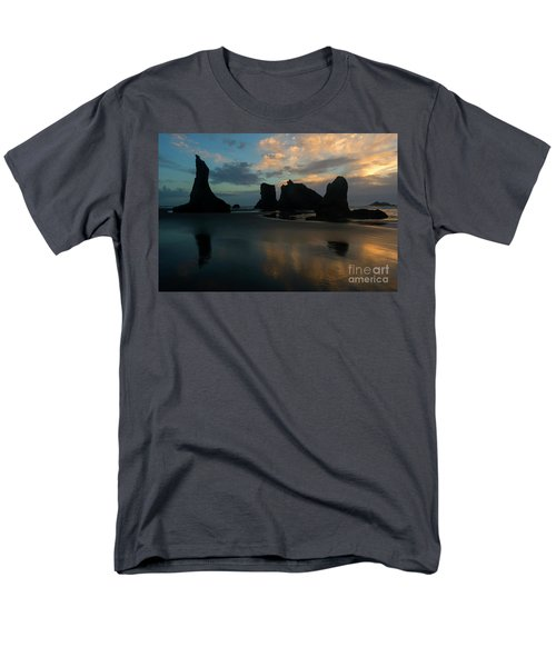 Men's T-Shirt  (Regular Fit) featuring the photograph Castles In The Sand by Mike Dawson