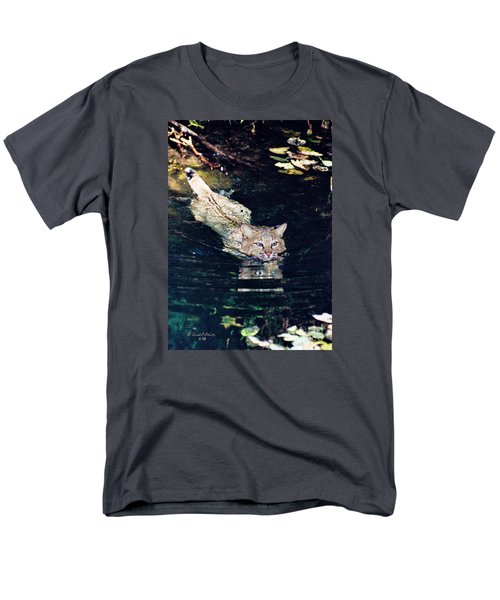 Cat In The Water Men's T-Shirt  (Regular Fit) by Ansel Price