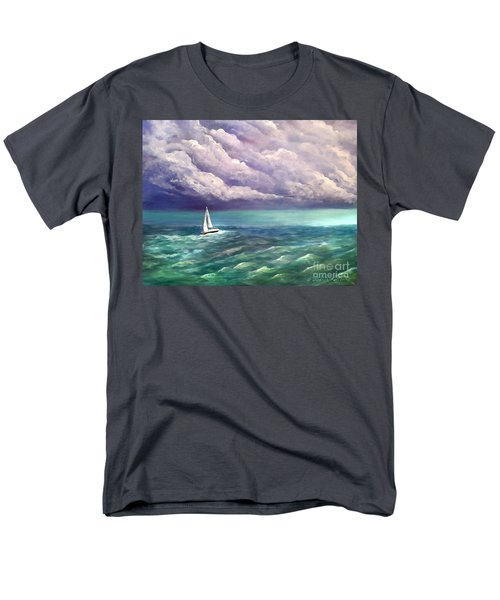 Men's T-Shirt  (Regular Fit) featuring the painting Tell The Storm by Patricia L Davidson