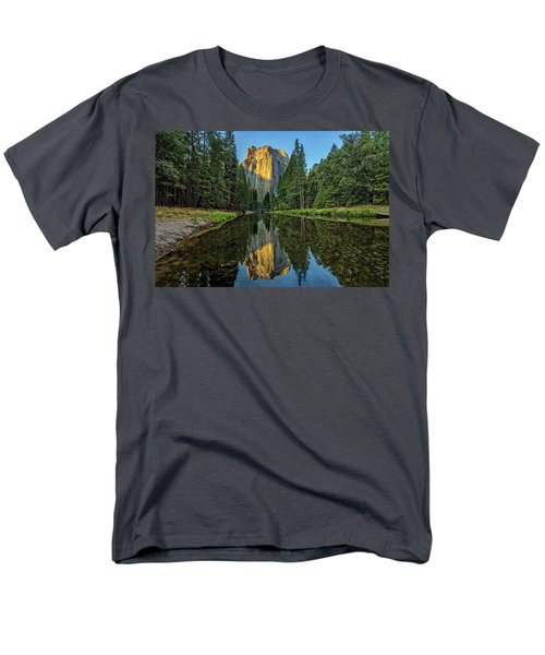 Cathedral Rocks Morning Men's T-Shirt  (Regular Fit) by Peter Tellone